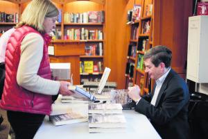 Joel Brinkley at Bookstore