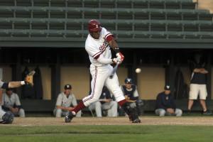Slugger Austin Wilson was one of three Cardinal players named Baseball America first-team preseason All-Americans on Thursday. (IAN GARCIA-DOTY/The Stanford Daily)
