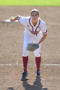 Freshman pitcher Kelsey Stevens (above)