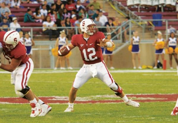 In 2008, h quarterback Andrew Luck (12)