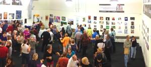 Exhibition opening on July 12. Courtesy of Palo Alto Art League
