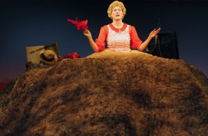 "Courtney Walsh as Winnie in the SST production of ""Happy Days"". Photo by Stefanie Okuda."