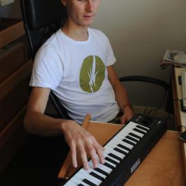 Student DJ Wiley Webb
