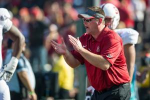 Stanford offensive coordinator Mike Bloomgren