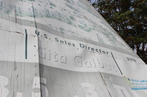 US sales director advertisement for Israeli settlements in East Jerusalem.