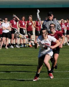 Senior Rachel Ozer (above) scored two goals ... (XXX/The Stanford Daily)