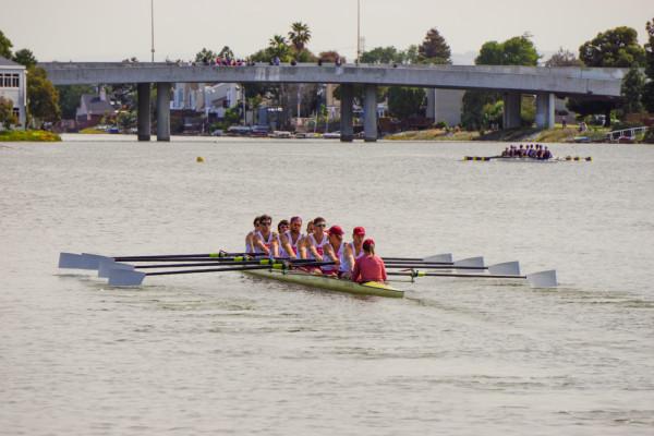 Men's 1V8 boat (ASHLEY WESTHEM/The Stanford Daily)