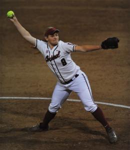 Freshman pitcher Madi Schreyer