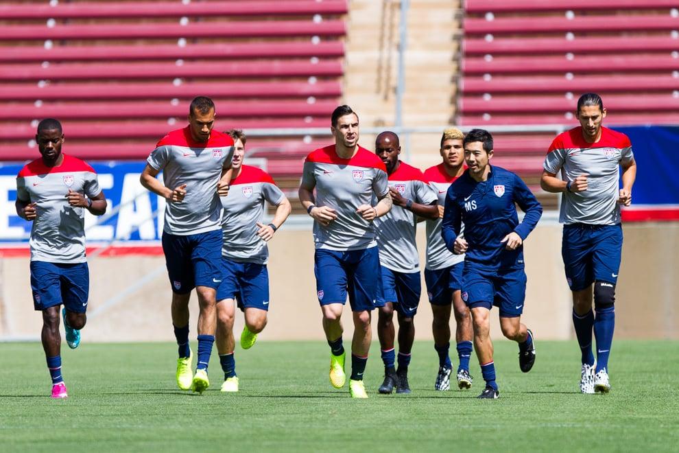 108305bb5 U.S. Men s National Soccer Team enjoying time on Stanford campus ...