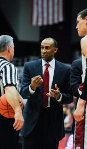 Stanford men's basketball head coach Johnny Dawkins