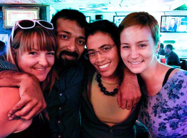 From right to left, Jessi Piggott, Vivek Narayan, Gigi Otalvaro, Audrey Moyce. Courtesy of Jesse Piggott.