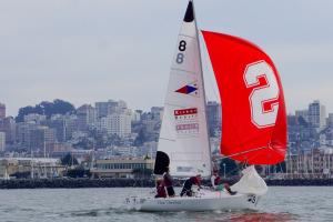Stanford sailing (center)