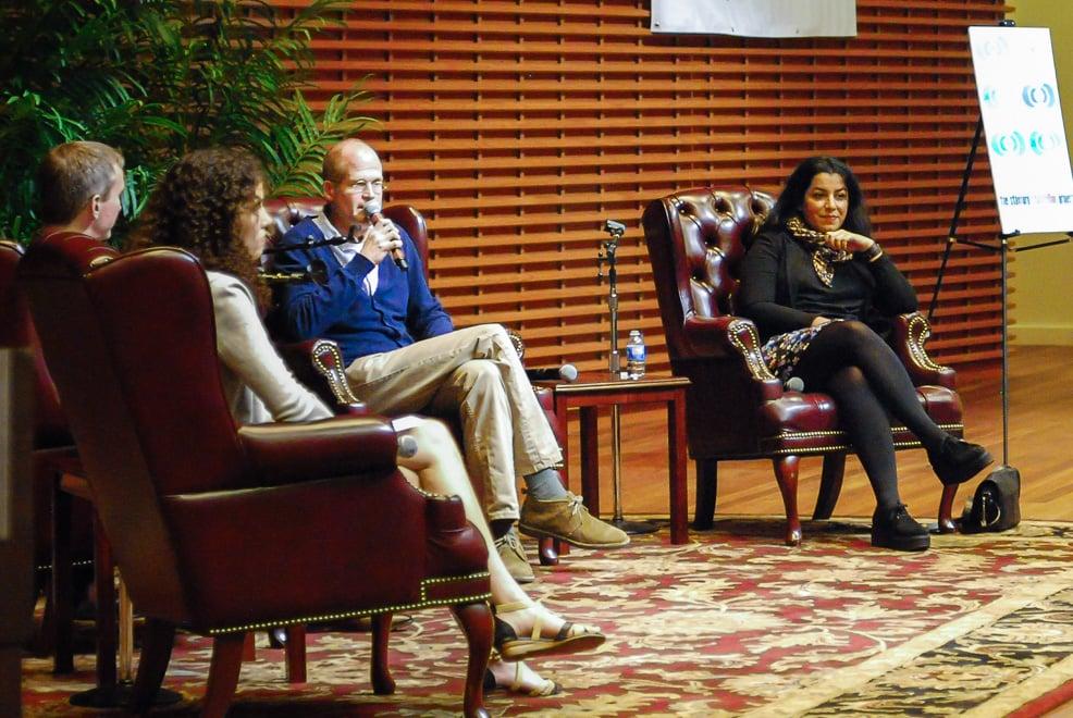 Graphic novelists Chris Ware and Marjane Satrapi discuss