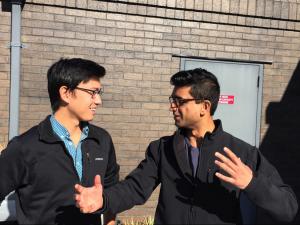 Nan Li (left) and Zavain Dar (right) co-teach SYMSYS161: Symbolic Systems in Venture Capital