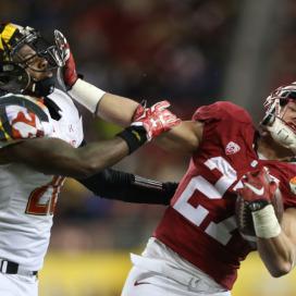 Stanford freshman running back Christian McCaffrey (right)