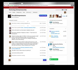 The NovoEd user environment. Courtesy of NovoEd