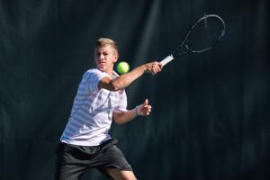 Freshman  David Wilcynski has established himself as a consistent winner for men's tennis this year, helping Stanford along it's ten game win streak. (DAVID BERNAL/David Bernal Photography).