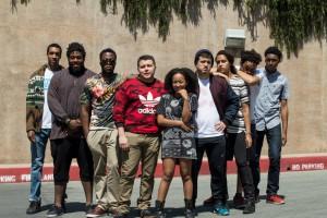From left to right: Faruhdey, Eli Arbor, MZZZA, Doza, Jae, C4, Jessica Ellenn, EAGLEBABEL and Meetus. (Courtesy of Musila Munuve)