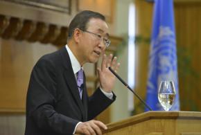 U.N. Secretary-General Ban Ki-moon speaks at Stanford, celebrates U.N.'s 70th anniversary