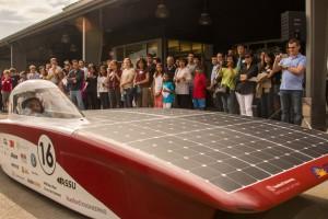 On July 10, Stanford Solar Car unveiled their new car, Arctan. (Courtesy of Stanford Solar Car)