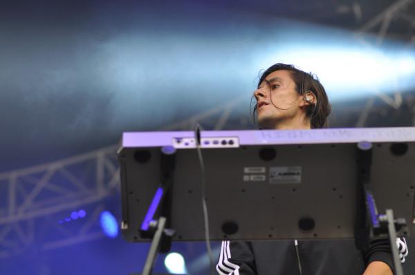 Sir Johnny Danger, keyboardist for Sky Ferreira. RAHIM ULLAH/The Stanford Daily