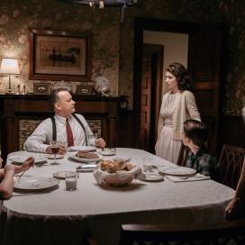 "Tom Hanks (center) in ""Bridge of Spies."" (Courtesy of Disney)"