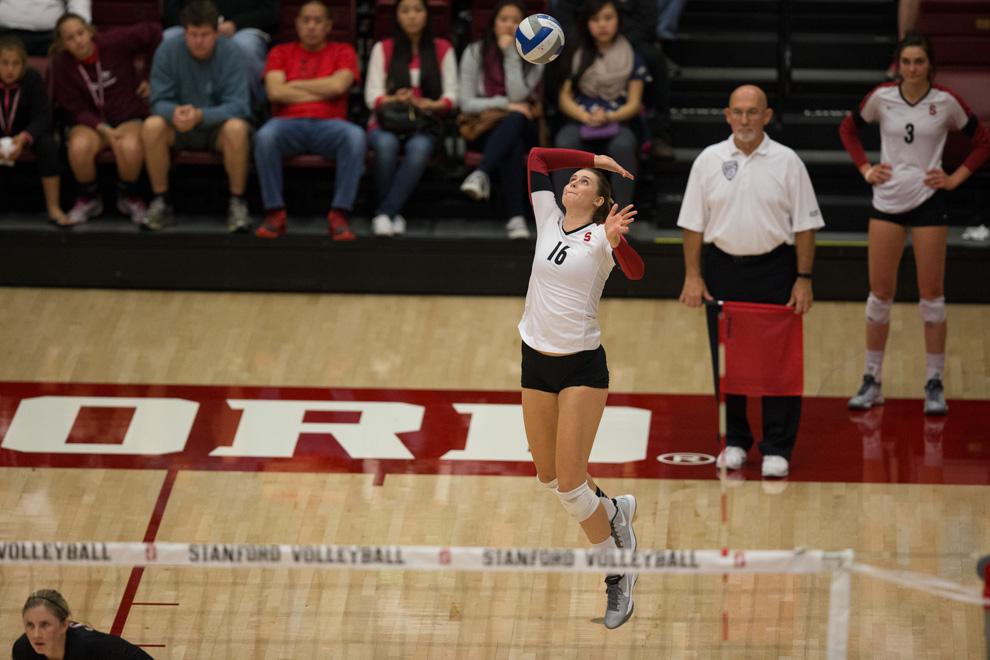 Brittany Howard (16), Women's volleyball v. ASU