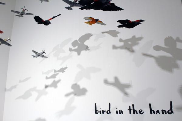 "Deborah Simon's ""Flock."" (ERIC HUANG/The Stanford Daily)"