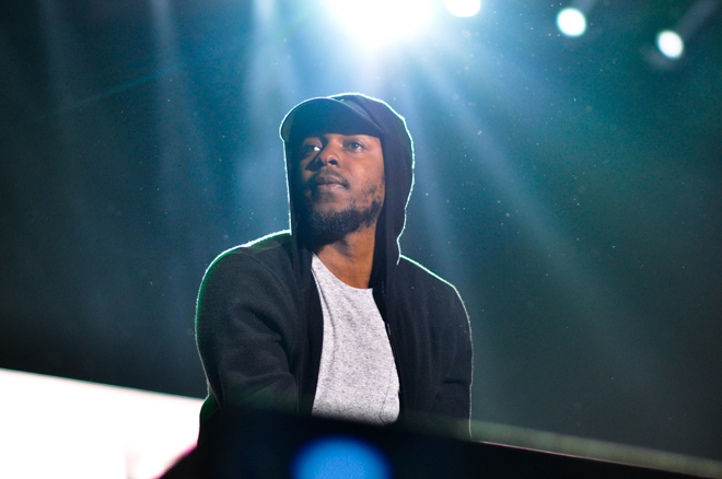Kendrick Lamar performs at Outside Lands 2015. (RAHIM ULLAH/The Stanford Daily)