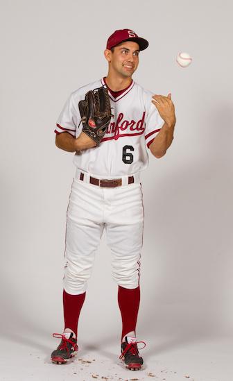 STANFORD, CA - JANUARY 13, 2016-- Jonny Locher, of the Stanford Men's Baseball team.