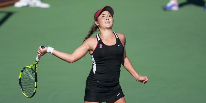 Caroline Lampl makes presence felt for women's tennis