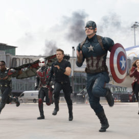"Team Cap takes off in Marvel's ""Captain America: Civil War"" (Courtesy of Disney)."