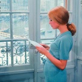 La belle Deneuve in 'The Umbrellas of Cherbourg' (1964) by Jacques Demy. (Courtesy of Janus Films)