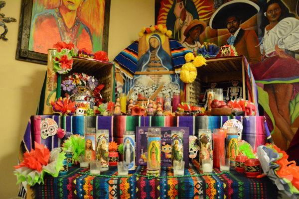 The Día de los Muertos altar at El Centro Chicano y Latino. (CLARISSA GUTIERREZ/The Stanford Daily)