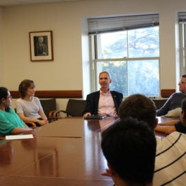 Congressman Dan Lipinski M.A. '89 spoke at a Stanford in Government event (JESSA CLARK/The Stanford Daily).