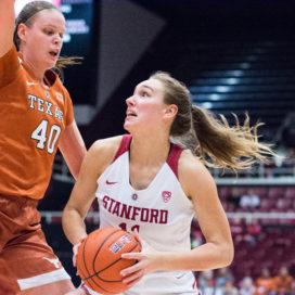 Sophomore forward Alanna Smith grabbed six rebounds on Sunday when the Cardinal trounced the CSUN Matadors. (RAHIM ULLAH/The Stanford Daily)