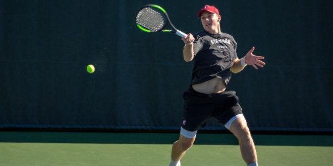No. 17 men's tennis falls in Pac-12 semifinals