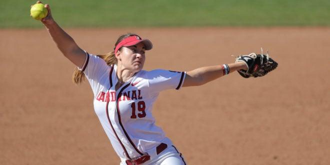 Softball upsets No. 7 Washington on Pancino's one-hit wonder