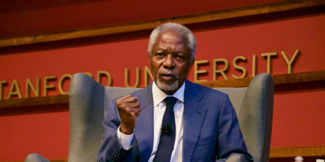 Former UN Secretary General Kofi Annan talks illiberal democracies, election issues