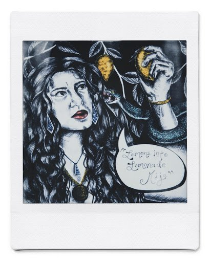 A portrait piece of art by Michelle Ibarra