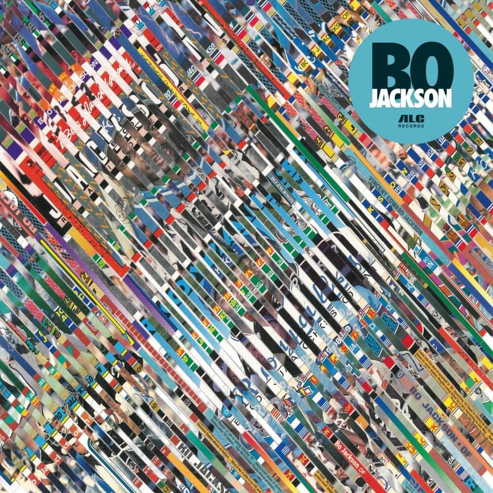 "colorful album cover for ""Bo Jackson"""
