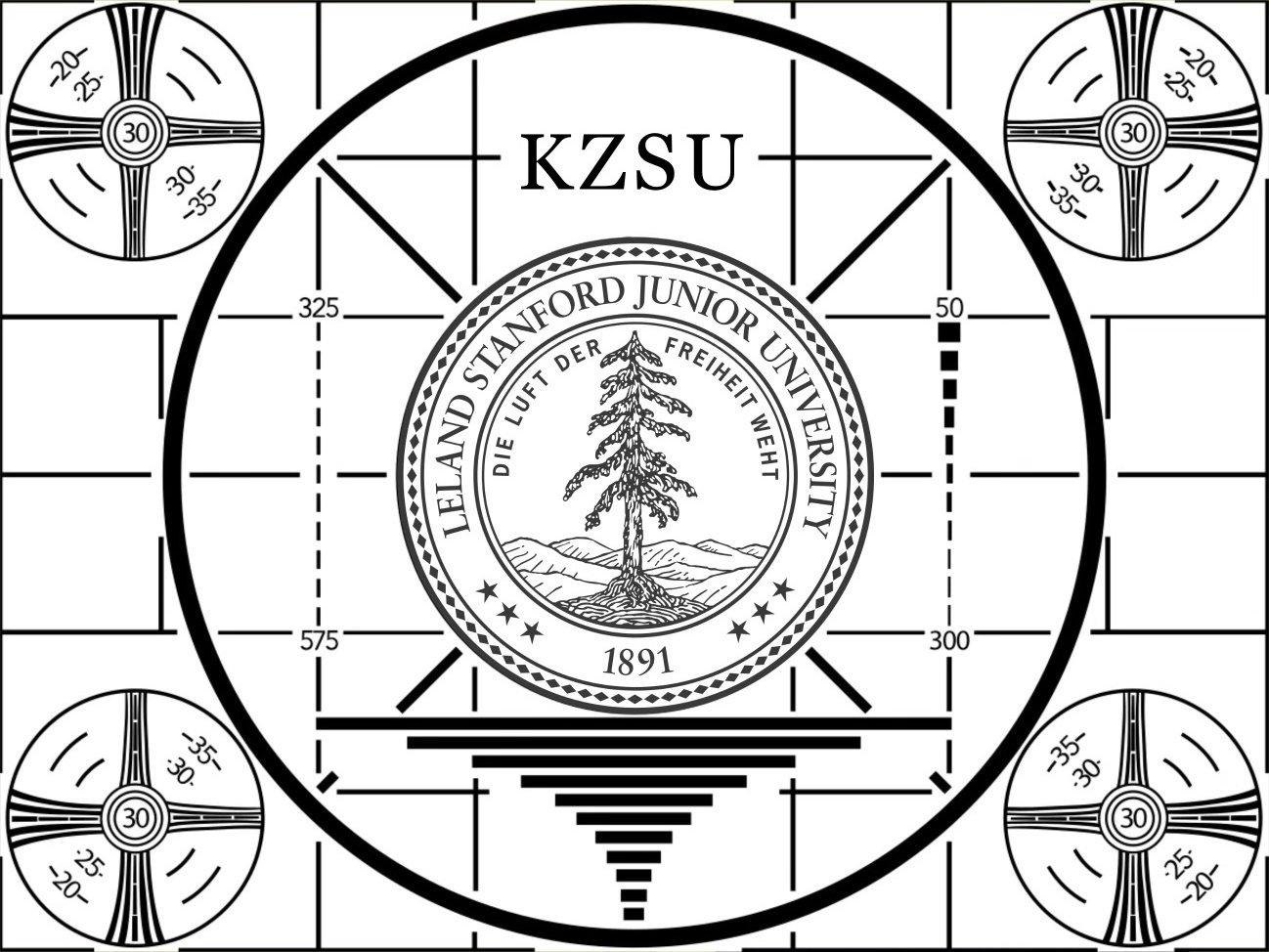 Black and white image of Stanford KZSU logo